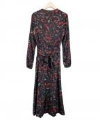 TOMORROW LAND collection(トゥモローランドコレクション)の古着「ボタニカルロングワンピース」|ブラック