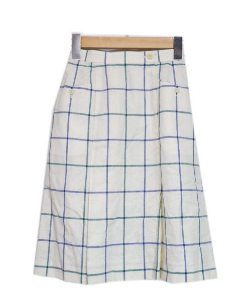 Burberrys(バーバリーズ)Burberrys (バーバリーズ) チェックスカート ホワイト サイズ:Sの古着・服飾アイテム