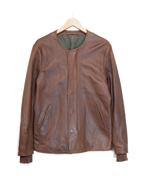 Sandinista(サンディニスタ)Sandinista (サンディニスタ) ラムレザージャケット ブラウン サイズ:Sの古着・服飾アイテム