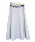 STRAWBERRY FIELDS(ストロベリーフィールズ)の古着「ラナリーサージスカート」|ライトブルー