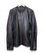 BEAMS HEART(ビームスハート)の古着「シープスキンレザージャケット」|ブラック