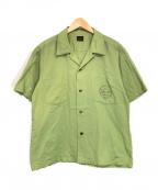 TENDERLOIN(テンダーロイン)の古着「半袖ワークシャツ」|グリーン