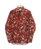 ()の古着「リーフコーデュロイシャツ」|ブラウン×レッド