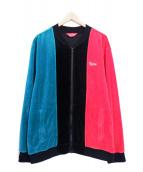 Supreme(シュプリーム)の古着「Velour Zip Up Jacket/トラックジャケ」|グリーン×レッド