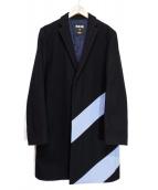 MSGM(エムエスジーエム)の古着「チェスターコート」|ブラッ