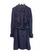 muller of yoshiokubo(ミュラーオブヨシオクボ)の古着「トレンチコート」|ネイビー