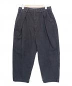 COLINA(コリーナ)の古着「Sashiko W-tuck Pants」|インディゴ