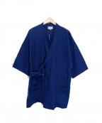 GAIJIN MADE(ガイジンメイド)の古着「インディゴ染め作務衣ジャケット」|インディゴ