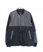 Denham()の古着「リフレクターMA-1ジャケット」 グレー×ブラック