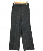 DES PRES(デプレ)の古着「ウールフランネルワイドパンツ」|グレー