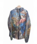 RIPNDIP(リップンディップ)の古着「フーデッドジャケット」 ブルー×ピンク