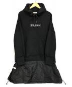 ()の古着「プルオーバーパーカーワンピース」 ブラック