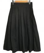 GRANDMA MAMA DAUGHTER()の古着「プリーツタックロングスカート」|ブラック
