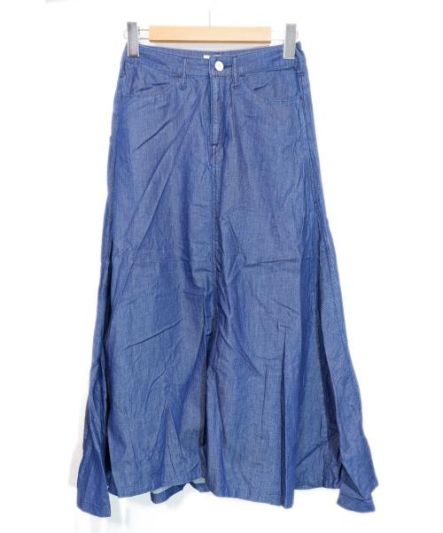 woadblue(ウォードブルー)woadblue (ウォードブルー) フレアスカート インディゴ サイズ:Sの古着・服飾アイテム