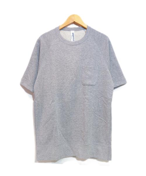LOOPWHEELER×BEAMS+(ループイウィラー×ビームスプラス)LOOPWHEELER×BEAMS+ (ループイウィラー×ビームスプラス) 半袖スウェット グレー サイズ:Lの古着・服飾アイテム