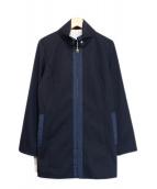 ()の古着「折り襟コート」 ネイビー