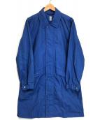 ()の古着「コットンシロングコート」 ブルー