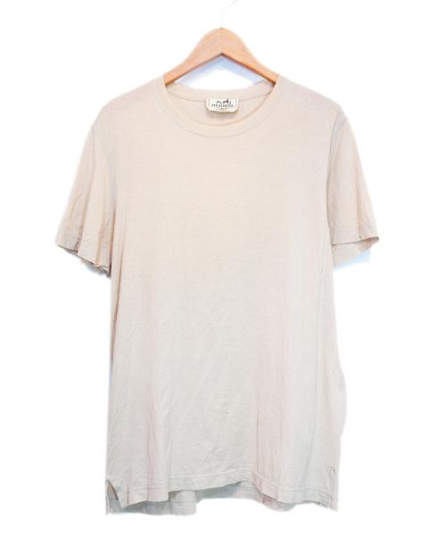 HERMES(エルメス)HERMES (エルメス) ワンポイントTシャツ ベージュ サイズ:Mの古着・服飾アイテム