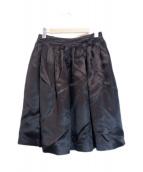 GUCCI(グッチ)の古着「シルクプリーツスカート」|ブラック