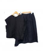 The SECRETCLOSET(ザシークレットクローゼット)の古着「リネン混セットアップブラウス」|ブラック