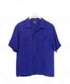 TENDERLOIN(テンダーロイン)の古着「レーヨンナイロンオープンカラーシャツ」|パープル