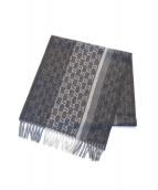 ()の古着「Wool Cashmere Logo Scarves」 ブラック