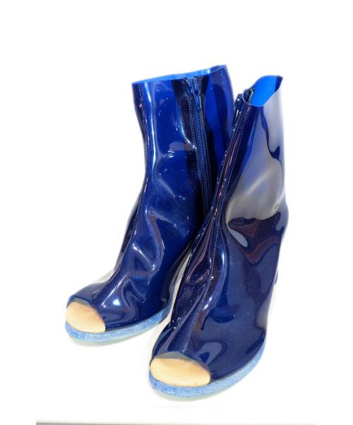 MM6 Maison Margiela(エムエムシックス メゾンマルジェラ)MM6 Maison Margiela (エムエムシックス メゾンマルジェラ) PVCクリアブーツ ブルー サイズ:37の古着・服飾アイテム