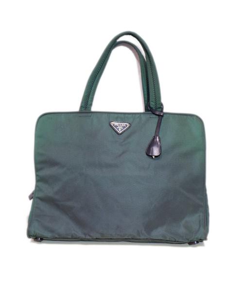 PRADA(プラダ)PRADA (プラダ) ナイロンブリーフケース グリーンの古着・服飾アイテム