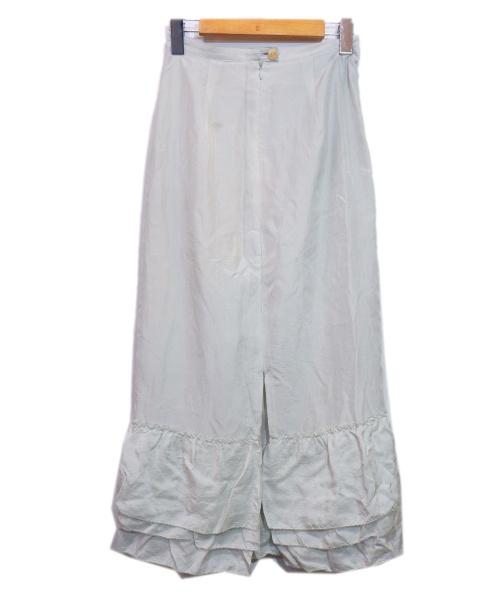 edit.for lulu(エディットフォールル)edit.for lulu (エディットフォールル) ヘムティアード シルクスカート アイボリー サイズ:34 20SSの古着・服飾アイテム