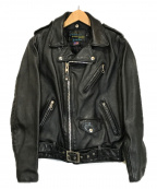 SCHOTT BROS.(ショットブロス)の古着「ワンスターダブルライダースジャケット」|ブラック