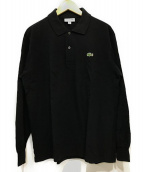 LACOSTE(ラコステ)の古着「オリジナルフィット 長袖 ポロシャツ」|ブラック