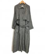 KBF(ケービーエフ)の古着「綿麻ボリュームコート」 グレー