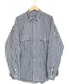Porter Classic(ポータークラシック)の古着「ロールアップシャツ」|ネイビー