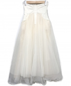 Belle vintage()の古着「ハイウエストデニムボリュームチュールスカート」 ホワイト