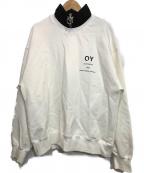OY(オーワイ)の古着「ハーフジップスウェット」|ホワイト