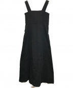 CLANE(クラネ)の古着「ワイドストラップロングワンピース」|ブラック