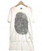 Vivienne Westwood man(ヴィヴィアン ウェストウッド マン)の古着「FINGER PRINT リラックスTシャツ」|ホワイト