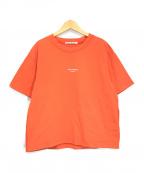 Acne studios(アクネストゥディオズ)の古着「リバースロゴTシャツ」 オレンジ