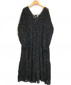 UNGRID(アングリッド)の古着「コットンレースフレアワンピース」 ブラック