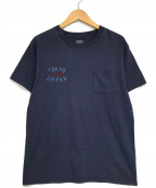 東洋エンタープライズ(トウヨウエンタープライズ)の古着「刺繍Tシャツ」|ネイビー