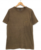 NIGEL CABOURN(ナイジェルケーボン)の古着「クルーネックカットソー」 ブラウン