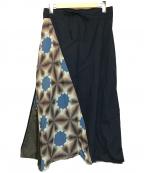 SOU・SOU(ソウソウ)の古着「有松鳴海絞り富士パンツ」|ネイビー