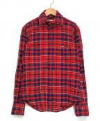Vivienne Westwood man(ヴィヴィアン ウェストウッド マン)の古着「オーブ刺繍チェックシャツ」|レッド