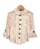 PAMEO POSE(パメオポーズ)の古着「レースブラウス」 ピンク