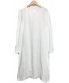 45R(フォーティファイブアール)の古着「カットワーク×天竺パッチワークワンピース」 ホワイト
