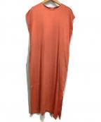 Demi-Luxe Beams(デミルクス ビームス)の古着「サテンラインワンピース」 オレンジ