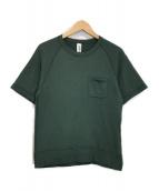 BEAMS PLUS×LOOPWHEELER(ビームスプラス×ループウィラー)の古着「エキストラライト プラス ショートスリーブ スウェットシャツ」|グリーン