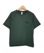 BEAMS PLUS×LOOPWHEELER(ビームスプラス×ループウィラー)の古着「エキストラライト プラス ショートスリーブ スウェットシャツ」 グリーン