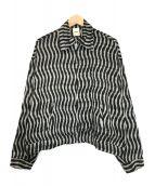 ()の古着「ジップジャケット」|ホワイト×ブラック