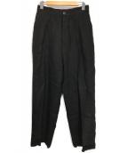 Badhiya(バディーヤ)の古着「リネンタックパンツ」|ブラック